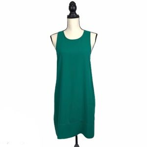 Leith Green Racerback Spring Sheath Dress Small